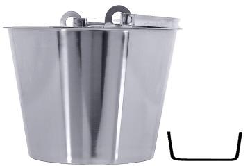 edelstahl eimer 32cm 15 liter schwere qualit t. Black Bedroom Furniture Sets. Home Design Ideas