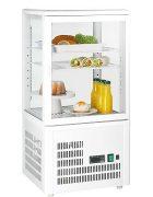Mini Kühlvitrine 58 Liter weiss