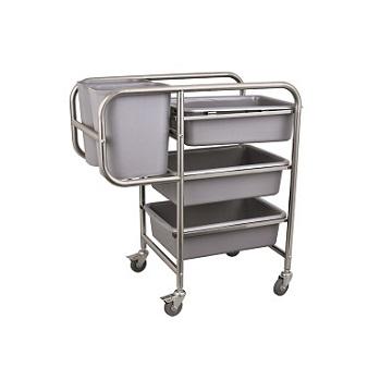 gastro abr umwagen f r geschirr inkl 3 beh lter f r tassen. Black Bedroom Furniture Sets. Home Design Ideas