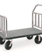 Gepäck Transportwagen Edelstahl grau