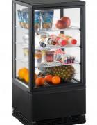 Mini Kühlvitrine 70 Liter schwarz