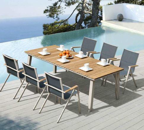 Hochwertige outdoor tischgruppe soho 7 teilig tisch mit for Tischgruppe 7 teilig