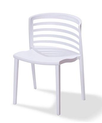 Kunststoff Stuhl Riviera weiß