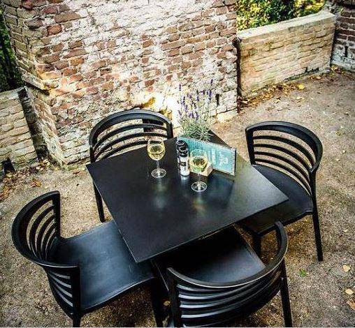 Kunststoff Stuhl Riviera schwarz