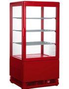 Saro Mini-Umluftkühlvitrine SC 70 Rot