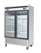 Atosa Glastürkühlschrank 2-türig mit Räder