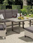Rattan Tischgruppe ALPHA Outdoor