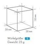 L-Würfel 28x28x32mm