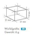 XS-Würfel 21x21x14mm