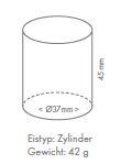 Zylinder Eis